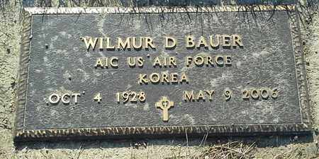"""BAUER, WILMUR D """"MILITARY"""" - Grant County, South Dakota 