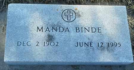 BINDE, MANDA - Grant County, South Dakota   MANDA BINDE - South Dakota Gravestone Photos