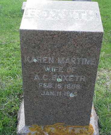 BOXETH, KAREN MARTIN - Grant County, South Dakota | KAREN MARTIN BOXETH - South Dakota Gravestone Photos