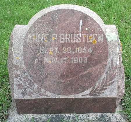 BRUSTUEN, ANNE P - Grant County, South Dakota   ANNE P BRUSTUEN - South Dakota Gravestone Photos