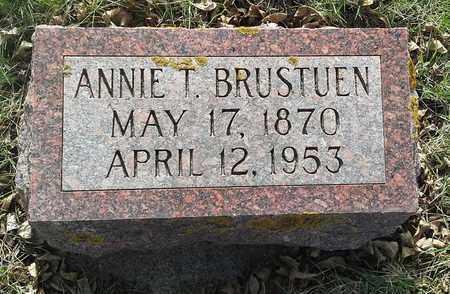 BRUSTUEN, ANNIE T - Grant County, South Dakota   ANNIE T BRUSTUEN - South Dakota Gravestone Photos