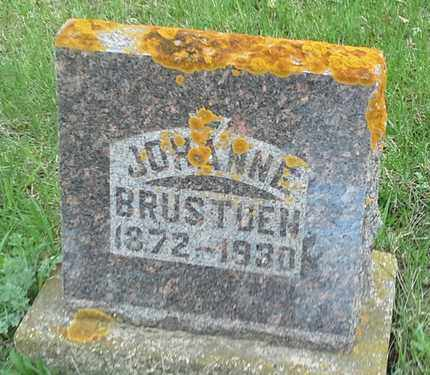 BRUSTUEN, JOHANNE - Grant County, South Dakota | JOHANNE BRUSTUEN - South Dakota Gravestone Photos