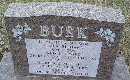 BUSK, ELMER RICHARD - Grant County, South Dakota | ELMER RICHARD BUSK - South Dakota Gravestone Photos