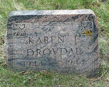 DROVDAHL, KAREN F - Grant County, South Dakota | KAREN F DROVDAHL - South Dakota Gravestone Photos
