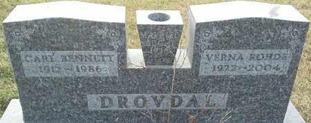 DROVDAL, VERNA ROHDE - Grant County, South Dakota   VERNA ROHDE DROVDAL - South Dakota Gravestone Photos