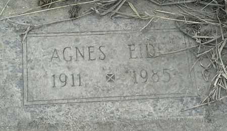 EIDE, AGNES - Grant County, South Dakota | AGNES EIDE - South Dakota Gravestone Photos