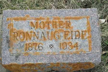 EIDE, RONNAUG - Grant County, South Dakota | RONNAUG EIDE - South Dakota Gravestone Photos