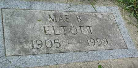 ELTOFT, MAE B - Grant County, South Dakota | MAE B ELTOFT - South Dakota Gravestone Photos