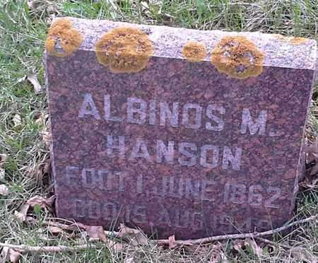 HANSON, ALBINOS M - Grant County, South Dakota | ALBINOS M HANSON - South Dakota Gravestone Photos