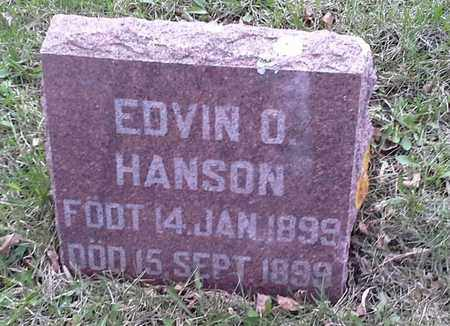 HANSON, EDVIN O - Grant County, South Dakota | EDVIN O HANSON - South Dakota Gravestone Photos