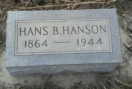 HANSON, HANS B - Grant County, South Dakota   HANS B HANSON - South Dakota Gravestone Photos