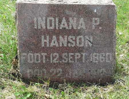 HANSON, INDIANA P - Grant County, South Dakota | INDIANA P HANSON - South Dakota Gravestone Photos