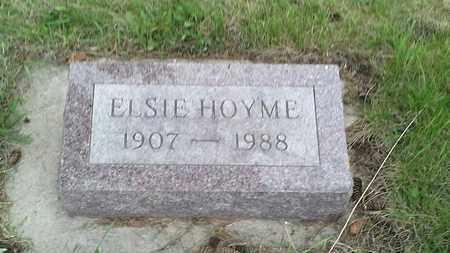 HOYME, ELSIE - Grant County, South Dakota | ELSIE HOYME - South Dakota Gravestone Photos