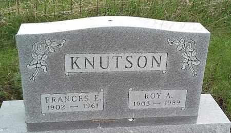 KNUTSON, FRANCES E - Grant County, South Dakota | FRANCES E KNUTSON - South Dakota Gravestone Photos