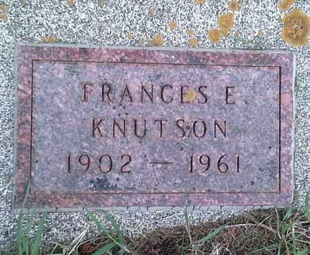 KNUTSON, FRAMCES E - Grant County, South Dakota   FRAMCES E KNUTSON - South Dakota Gravestone Photos