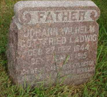 LADWIG, JOHANN WILHELM GOTTFIRED - Grant County, South Dakota | JOHANN WILHELM GOTTFIRED LADWIG - South Dakota Gravestone Photos