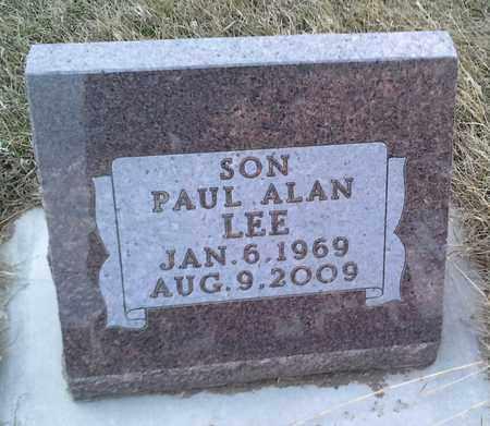 LEE, PAUL ALAN - Grant County, South Dakota   PAUL ALAN LEE - South Dakota Gravestone Photos