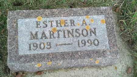 MARTINSON, ESTHER A - Grant County, South Dakota | ESTHER A MARTINSON - South Dakota Gravestone Photos