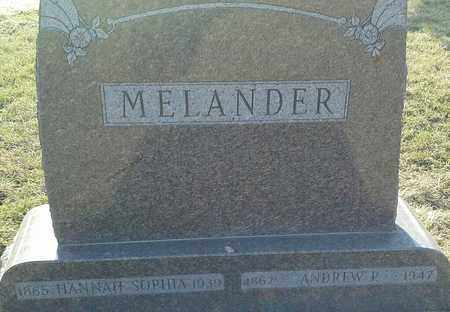 MELANDER, ANDREW P - Grant County, South Dakota | ANDREW P MELANDER - South Dakota Gravestone Photos