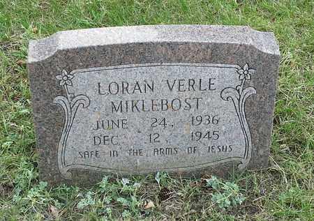 MIKLEBOST, LORAN VERLE - Grant County, South Dakota   LORAN VERLE MIKLEBOST - South Dakota Gravestone Photos