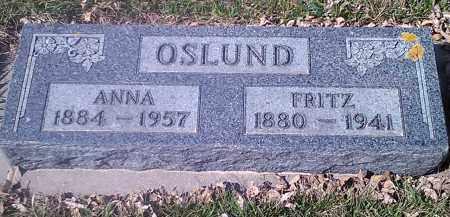 OSLUND, ANNA - Grant County, South Dakota   ANNA OSLUND - South Dakota Gravestone Photos