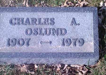 OSLUND, CHARLES A - Grant County, South Dakota   CHARLES A OSLUND - South Dakota Gravestone Photos