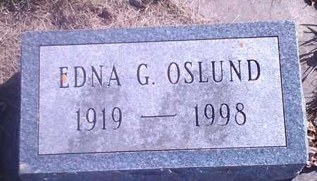 OSLUND, EDNA G - Grant County, South Dakota | EDNA G OSLUND - South Dakota Gravestone Photos