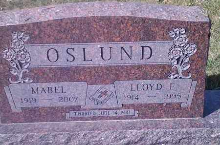 OSLUND, LLOYD E. - Grant County, South Dakota | LLOYD E. OSLUND - South Dakota Gravestone Photos