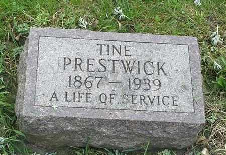 PRESTWICK, TINE - Grant County, South Dakota | TINE PRESTWICK - South Dakota Gravestone Photos
