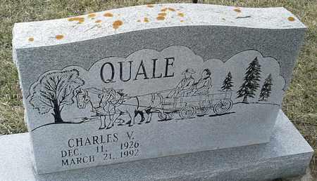 QUALE, CHARLES V - Grant County, South Dakota | CHARLES V QUALE - South Dakota Gravestone Photos