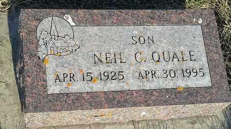 QUALE, NEIL C - Grant County, South Dakota   NEIL C QUALE - South Dakota Gravestone Photos