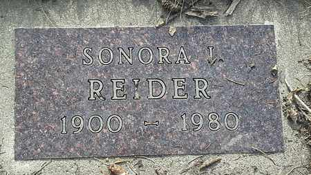 REIDER, SONORA I - Grant County, South Dakota | SONORA I REIDER - South Dakota Gravestone Photos