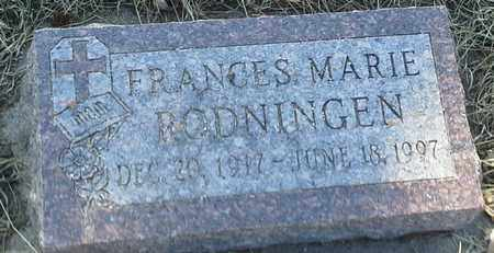 RODNINGEN, FRANCES MARIE - Grant County, South Dakota   FRANCES MARIE RODNINGEN - South Dakota Gravestone Photos