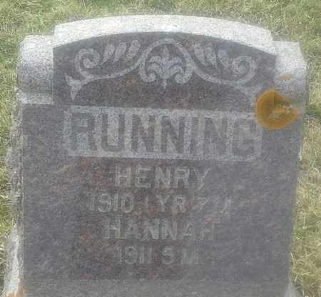 RUNNING, HANNAH - Grant County, South Dakota   HANNAH RUNNING - South Dakota Gravestone Photos