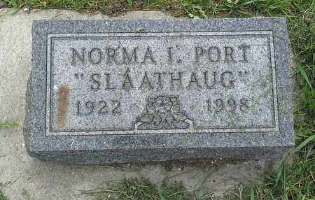 PORT SLAATHAUG, NORMA I - Grant County, South Dakota | NORMA I PORT SLAATHAUG - South Dakota Gravestone Photos