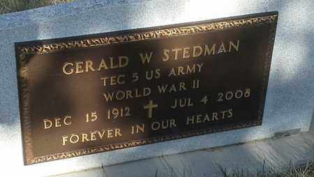 """STEDMAN, GERALD W """"MILITARY"""" - Grant County, South Dakota 