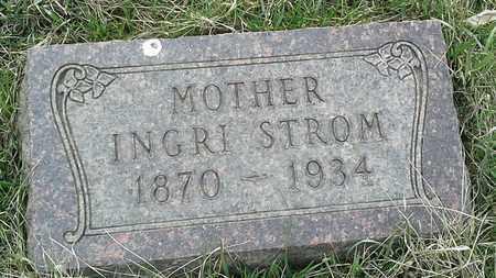 STROM, INGRI - Grant County, South Dakota | INGRI STROM - South Dakota Gravestone Photos