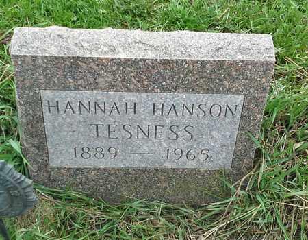 HANSON TESNESS, HANNAH - Grant County, South Dakota | HANNAH HANSON TESNESS - South Dakota Gravestone Photos