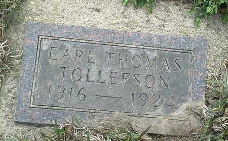 TOLLEFSON, EARL THOMAS - Grant County, South Dakota | EARL THOMAS TOLLEFSON - South Dakota Gravestone Photos