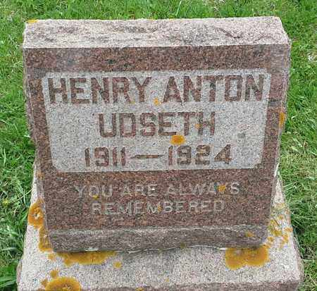 UDSETH, HENRY ANTON - Grant County, South Dakota | HENRY ANTON UDSETH - South Dakota Gravestone Photos
