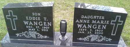 WANGEN, ANNE MARIE - Grant County, South Dakota | ANNE MARIE WANGEN - South Dakota Gravestone Photos