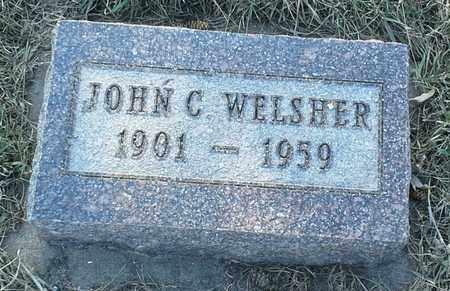 WELSHER, JOHN C - Grant County, South Dakota | JOHN C WELSHER - South Dakota Gravestone Photos