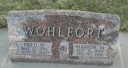 WOHLFORT, MARION M - Grant County, South Dakota   MARION M WOHLFORT - South Dakota Gravestone Photos