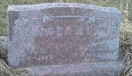 ZSCHOMLER, PALMA - Grant County, South Dakota | PALMA ZSCHOMLER - South Dakota Gravestone Photos