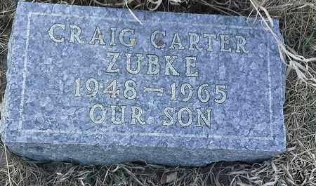 ZUBKE, CRAIG CARTER - Grant County, South Dakota | CRAIG CARTER ZUBKE - South Dakota Gravestone Photos