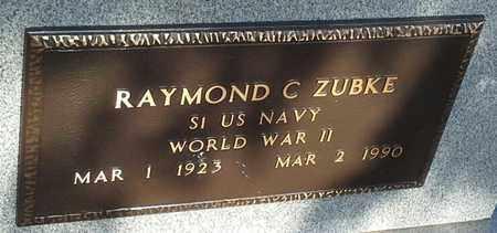 "ZUBKE, RAYMOND C ""MILITARY"" - Grant County, South Dakota | RAYMOND C ""MILITARY"" ZUBKE - South Dakota Gravestone Photos"
