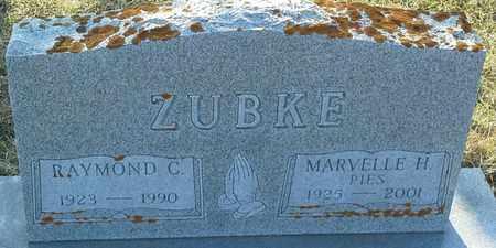 ZUBKE, MARVELLE H - Grant County, South Dakota | MARVELLE H ZUBKE - South Dakota Gravestone Photos