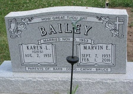BAILEY, MARVIN E. - Gregory County, South Dakota | MARVIN E. BAILEY - South Dakota Gravestone Photos