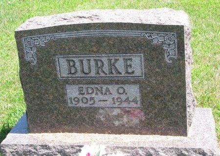 BURKE, EDNA OLAVA - Gregory County, South Dakota   EDNA OLAVA BURKE - South Dakota Gravestone Photos