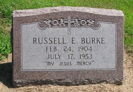 BURKE, RUSSELLL E. - Gregory County, South Dakota | RUSSELLL E. BURKE - South Dakota Gravestone Photos